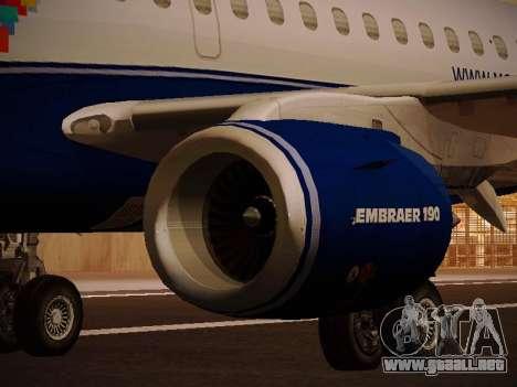 Embraer E190 Azul Brazilian Airlines para el motor de GTA San Andreas