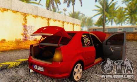 Dacia Logan Delta Garage para vista lateral GTA San Andreas