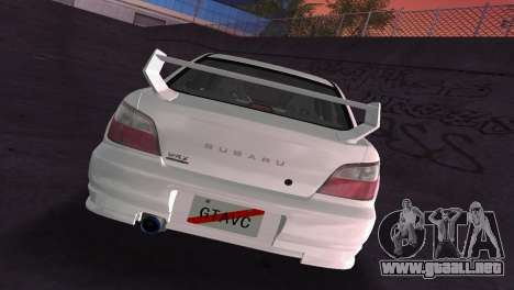 Subaru Impreza WRX 2002 Type 2 para GTA Vice City vista superior