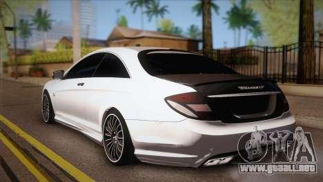 Mercedes-Benz CL63 AMG para GTA San Andreas left