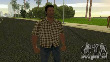 Kockas polo - citrom sarga T-Shirt para GTA Vice City
