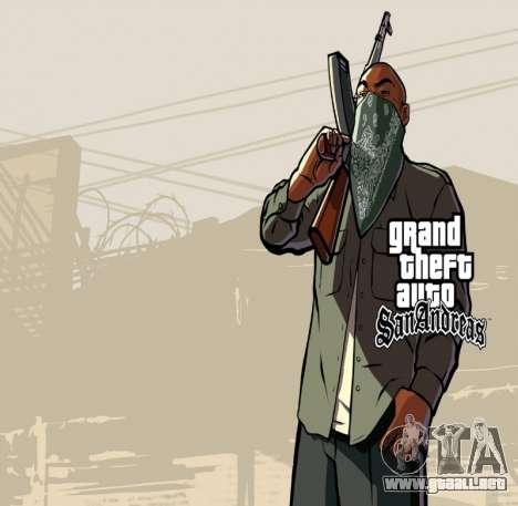 HD la pantalla de carga y menú para GTA San Andreas quinta pantalla