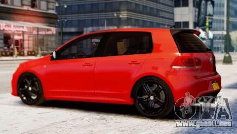 Volkswagen Golf R 2010 Racing Stripes Paintjob para GTA 4 left