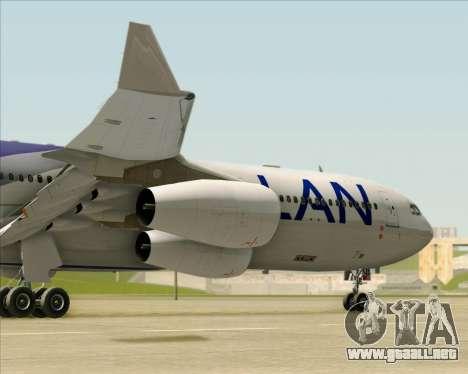 Airbus A340-313 LAN Airlines para la vista superior GTA San Andreas