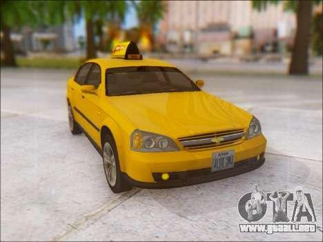 Chevrolet Evanda Taxi para vista lateral GTA San Andreas