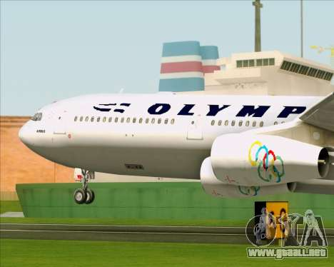 Airbus A340-313 Olympic Airlines para vista lateral GTA San Andreas