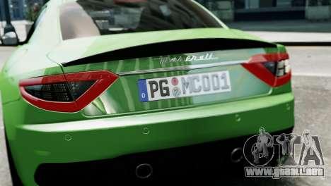 Maserati Gran Turismo MC Stradale 2014 para GTA 4 vista lateral