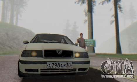 Skoda Octavia para la visión correcta GTA San Andreas