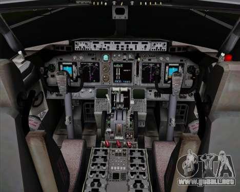 Boeing 737-838 Qantas para GTA San Andreas interior
