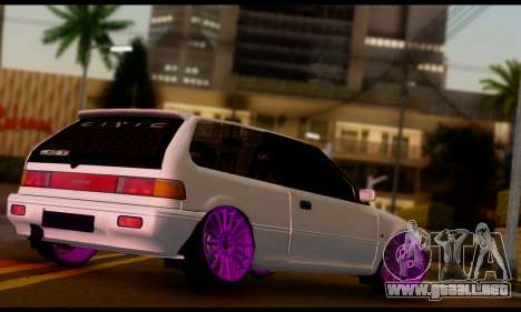 Honda Civic EF9 V-Tech Camber Style para GTA San Andreas left