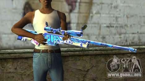 Graffiti Sniper Rifle v2 para GTA San Andreas tercera pantalla