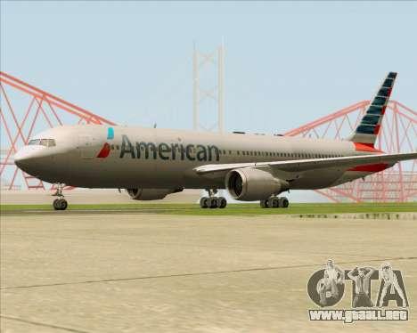 Boeing 767-323ER American Airlines para la visión correcta GTA San Andreas