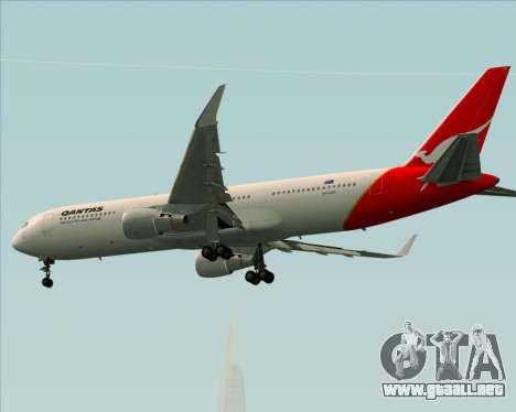 Boeing 767-300ER Qantas para GTA San Andreas vista hacia atrás