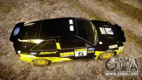 Ford Escort RS Cosworth 2.0 Vespas Team para GTA 4 visión correcta