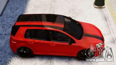 Volkswagen Golf R 2010 Racing Stripes Paintjob para GTA 4 Vista posterior izquierda