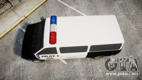 Declasse Burrito Police Transporter ROTORS [ELS] para GTA 4 visión correcta