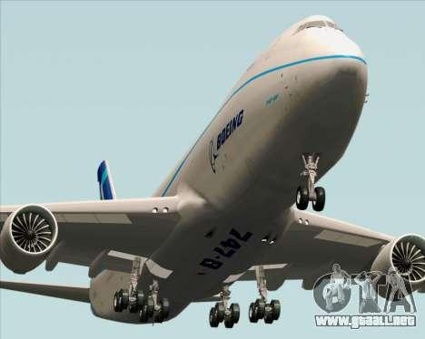 Boeing 747-8 Cargo House Livery para la visión correcta GTA San Andreas