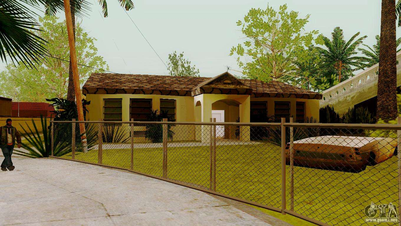 Texturas nuevas casas en la calle grove para gta san andreas for Casa moderna gta sa