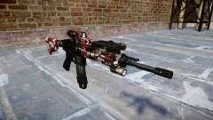 Automatic rifle Colt M4A1 son inyectados de sang