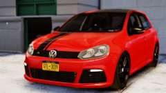 Volkswagen Golf R 2010 Racing Stripes Paintjob