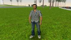 Kockas polo - fekete T-Shirt para GTA Vice City
