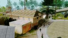 Texturas nuevas casas en la calle grove