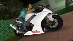 Aprilia RSV4 2009 White Edition I para GTA Vice City
