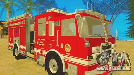 Pierce Arrow XT 2008 Los Santos Fire Department para GTA San Andreas