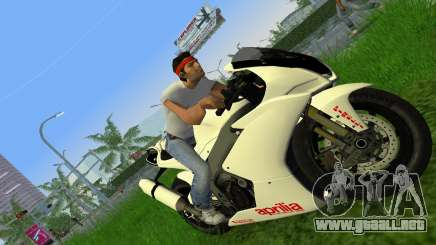 Aprilia RSV4 2009 White Edition II para GTA Vice City