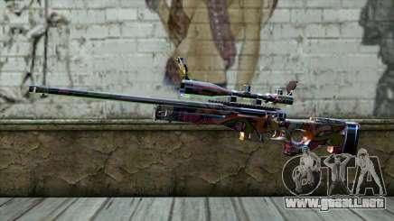 Graffiti Sniper Rifle para GTA San Andreas