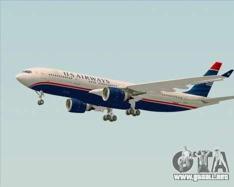 Airbus A330-200 US Airways para vista inferior GTA San Andreas