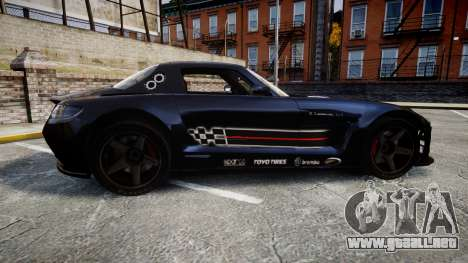 Mercedes-Benz SLS AMG GT-3 high para GTA 4 left