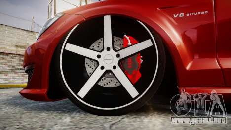 Mercedes-Benz CLS 63 AMG Vossen para GTA 4 vista hacia atrás