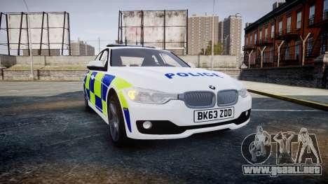 BMW 335i 2013 Central Motorway Police [ELS] para GTA 4