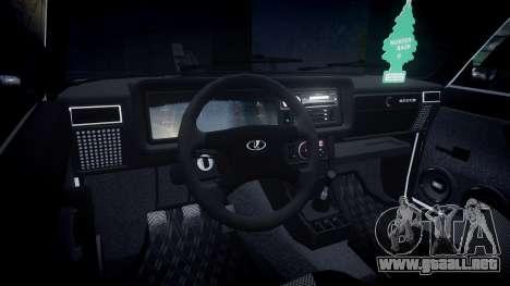 VAZ-2107 Italia para GTA 4 vista hacia atrás