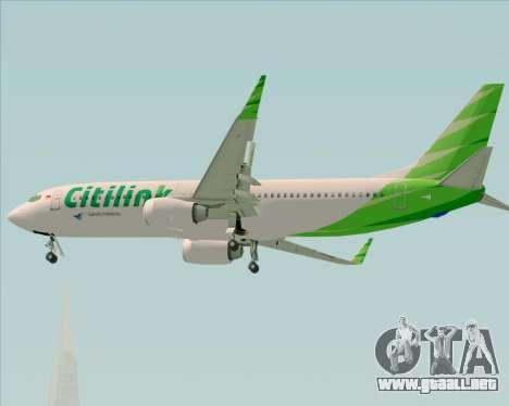 Boeing 737-800 Citilink para la vista superior GTA San Andreas