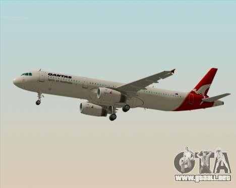 Airbus A321-200 Qantas para GTA San Andreas vista posterior izquierda