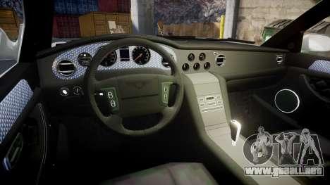 Bentley Arnage T 2005 Rims3 para GTA 4 vista hacia atrás