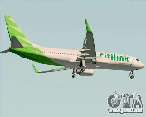 Boeing 737-800 Citilink para visión interna GTA San Andreas