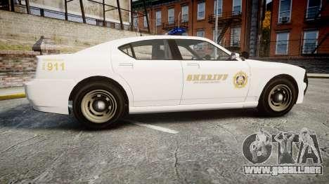 GTA V Bravado Buffalo LS Sheriff White [ELS] para GTA 4 left