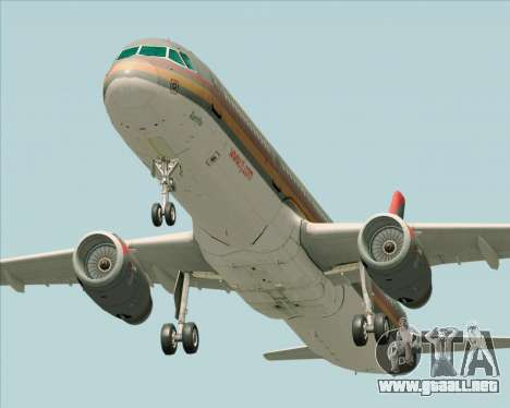 Airbus A321-200 Royal Jordanian Airlines para visión interna GTA San Andreas