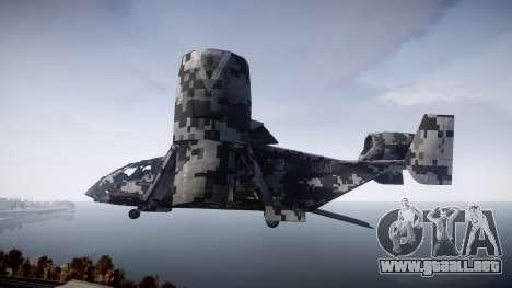 VTOL Warship PJ2 para GTA 4 left