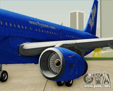 Airbus A321-200 Zoom Airlines para el motor de GTA San Andreas