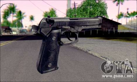 Beretta M92F para GTA San Andreas segunda pantalla