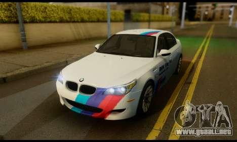 BMW M5 E60 2006 para visión interna GTA San Andreas