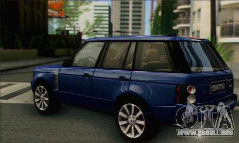Range Rover Supercharged para GTA San Andreas left
