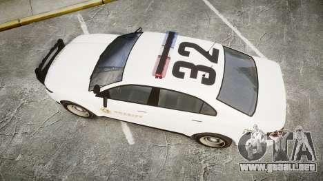 GTA V Vapid Interceptor LSS White [ELS] para GTA 4 visión correcta