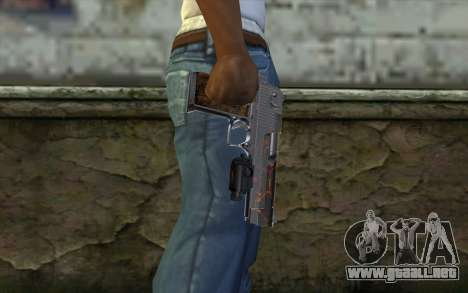 Silver Desert Eagle para GTA San Andreas tercera pantalla