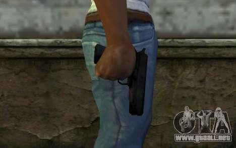 Pistol from Cutscene para GTA San Andreas tercera pantalla