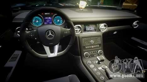 Mercedes-Benz SLS AMG GT-3 high para GTA 4 vista hacia atrás